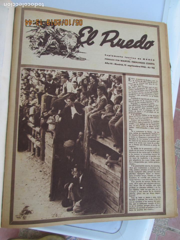 Tauromaquia: EL RUEDO AÑO 1946 23 REVISTAS ENCUADERNADAS DESDE JULIO 1946 HASTA DICIEMBRE BUEN ESTADO - Foto 29 - 164599186