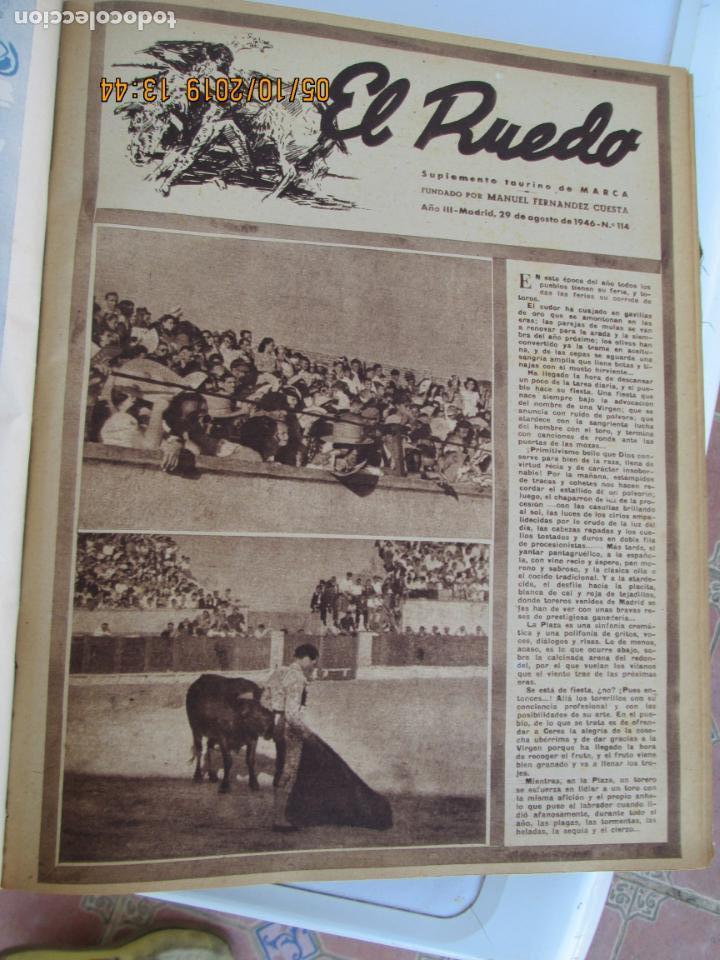 Tauromaquia: EL RUEDO AÑO 1946 23 REVISTAS ENCUADERNADAS DESDE JULIO 1946 HASTA DICIEMBRE BUEN ESTADO - Foto 33 - 164599186