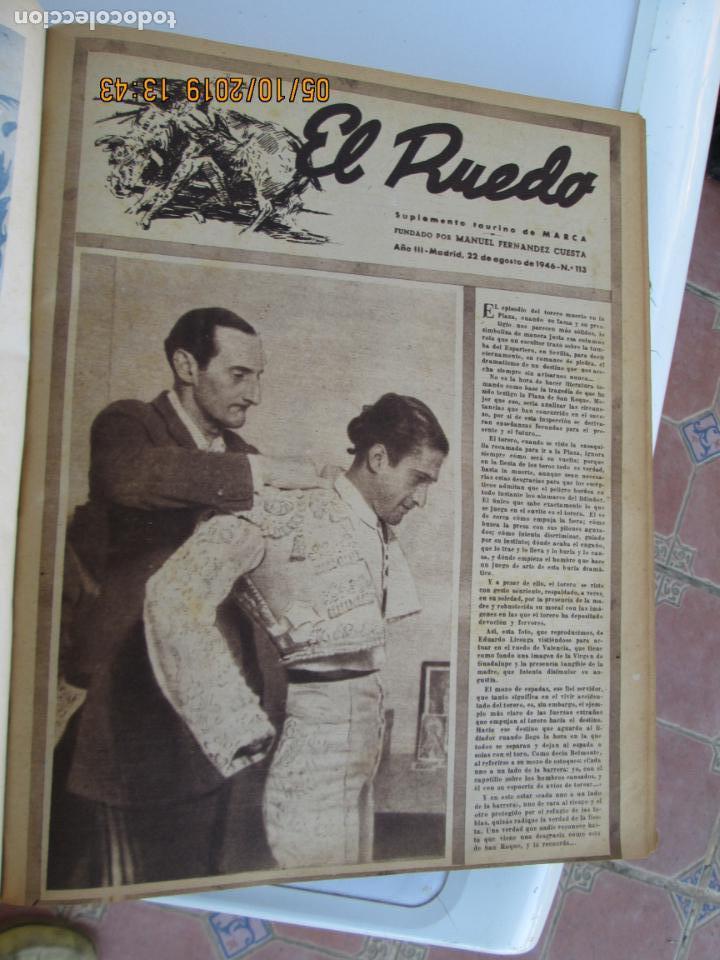 Tauromaquia: EL RUEDO AÑO 1946 23 REVISTAS ENCUADERNADAS DESDE JULIO 1946 HASTA DICIEMBRE BUEN ESTADO - Foto 35 - 164599186