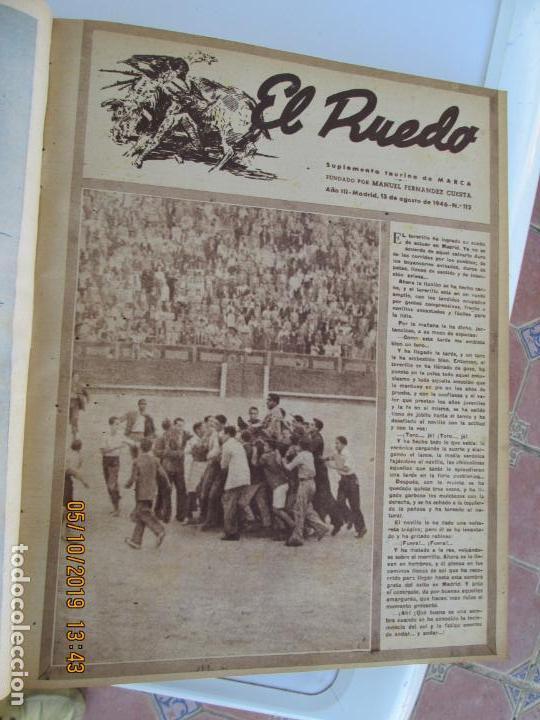 Tauromaquia: EL RUEDO AÑO 1946 23 REVISTAS ENCUADERNADAS DESDE JULIO 1946 HASTA DICIEMBRE BUEN ESTADO - Foto 37 - 164599186