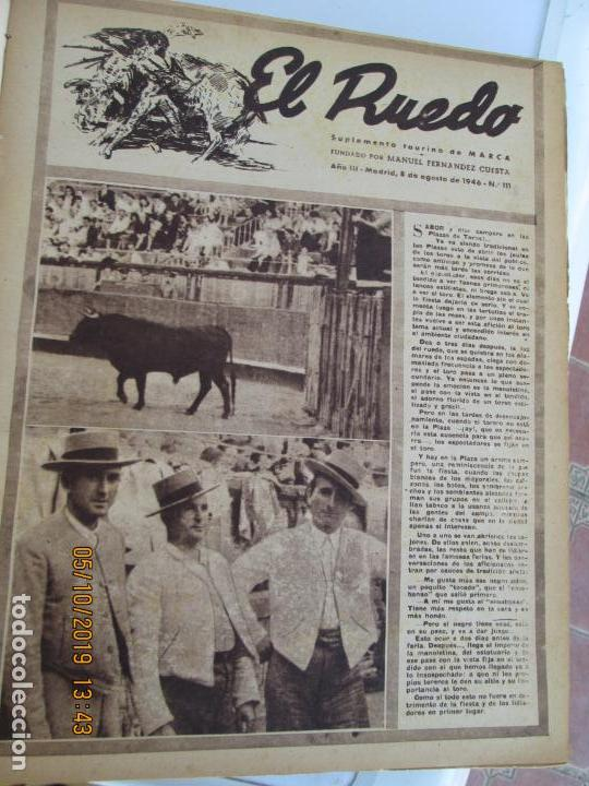 Tauromaquia: EL RUEDO AÑO 1946 23 REVISTAS ENCUADERNADAS DESDE JULIO 1946 HASTA DICIEMBRE BUEN ESTADO - Foto 39 - 164599186