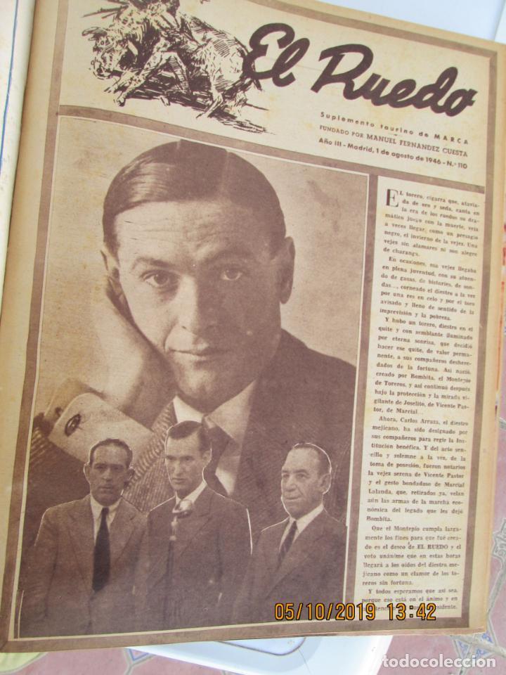 Tauromaquia: EL RUEDO AÑO 1946 23 REVISTAS ENCUADERNADAS DESDE JULIO 1946 HASTA DICIEMBRE BUEN ESTADO - Foto 41 - 164599186