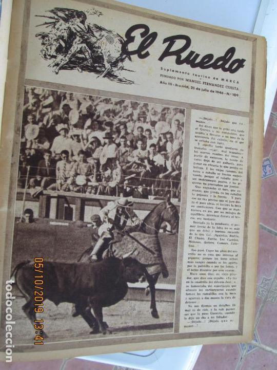 Tauromaquia: EL RUEDO AÑO 1946 23 REVISTAS ENCUADERNADAS DESDE JULIO 1946 HASTA DICIEMBRE BUEN ESTADO - Foto 43 - 164599186