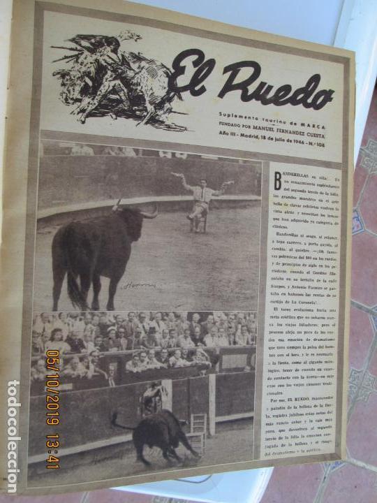 Tauromaquia: EL RUEDO AÑO 1946 23 REVISTAS ENCUADERNADAS DESDE JULIO 1946 HASTA DICIEMBRE BUEN ESTADO - Foto 45 - 164599186