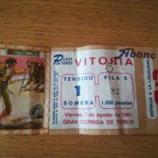 Tauromaquia: ENTRADA DE TOROS PLAZA DE VITORIA. 7 DE AGOSTO 1991,GASTEIZ. Lote 164926782