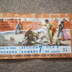 Tauromaquia: ENTRADA DE TOROS PLAZA DE LOGROÑO . 25 DE SEPTIEMBRE 1972, LOGROÑO. Lote 164927182