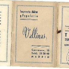 Tauromaquia: C150- CARNET LA TEATRAL - ABONO DE DE TOROS DE 1960 -PLAZA DE LAS VENTAS MADRID . Lote 165072930