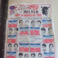 Tauromaquia: PAÑUELO DE TOROS, CARTEL TAURINO 1993 MÁLAGA FERIA DE AGOSTO. Lote 165279846