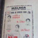 Tauromaquia: PAÑUELO DE TOROS, CARTEL TAURINO 1990 MÁLAGA FERIA AGOSTO EL SORO, CASTILLO, MORENITO DE MARACAY. Lote 165291706