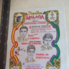 Tauromaquia: PAÑUELO DE TOROS, CARTEL TAURINO 1994 MÁLAGA RAFI CAMINO, FINITO DE CORDOBA, PEDRITO DE PORTUGAL. Lote 165291910