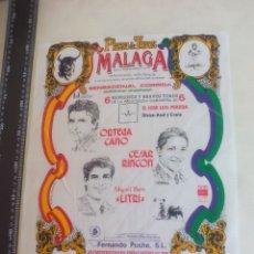 Stierkampf - PAÑUELO DE TOROS, CARTEL TAURINO 1994 MÁLAGA ORTEGA CANO, CESAR RINCON, LITRI MIGUEL BAEZ - 165292030