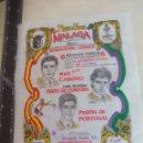 Tauromaquia: PAÑUELO DE TOROS, CARTEL TAURINO 1994 MÁLAGA RAFI CAMINO, FINITO DE CORDOBA PEDRITO DE PORTUGAL. Lote 165292198