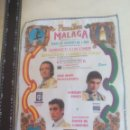Tauromaquia: PAÑUELO DE TOROS, CARTEL TAURINO 1994 MÁLAGA FERIA AGOSTO JOSE MARIA MANZANARES,ENRIQUE PONCE FINITO. Lote 165293010