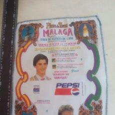 Tauromaquia: PAÑUELO DE TOROS, CARTEL TAURINO 1994 MÁLAGA FERIA AGOSTO JESULIN DE UBRIQUE, EL CORDOBES. Lote 165293334
