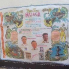 Tauromaquia: PAÑUELO DE TOROS, CARTEL TAURINO 1994 MÁLAGA FERIA AGOSTO CURRO ROMERO, JULIO APARICIO, TRUJILLO. Lote 165293502
