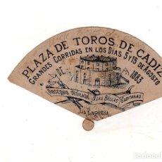 Tauromaquia: PUBLICIDAD DE PLAZA DE TOROS DE CADIZ. DEDICADO A LAS BELLAS GADITANAS. 5 Y 15 DE AGOSTO DE 1883.VER. Lote 165471254
