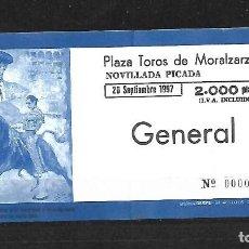 Tauromaquia: C150- ANTIGUA ENTRADA DE LA PLAZA DE TOROS DE MORALZARZAL - DEL - 26 - 9 - 1997 - DE 2.000 PTAS.. Lote 165676474