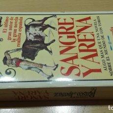 Tauromaquia: SANGRE Y ARENA / VICENTE BLASCO IBAÑEZ / GLORIA Y TRAGEDIA DE LA FIESTA NACIONAL - TOROS / /. Lote 165793550