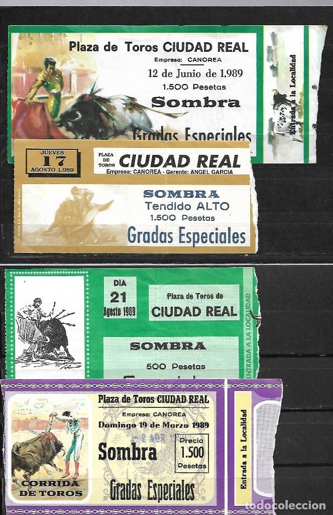 C150- LOTE DE - 6 ANTIGUAS ENTRADAS LA PLAZA DE TOROS DE CIUDAD REAL DE -1989 DE 1.500 PTAS (Coleccionismo - Tauromaquia)