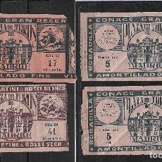 Tauromaquia: C150- LOTE DE - 4 ANTIGUAS ENTRADAS LA PLAZA DE TOROS DE LAS VENTAS DE -1948 DE 16 Y 18 PTAS. Lote 166754094