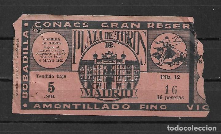 Tauromaquia: C150- 1948 PROGRAMA OFICIAL DE MANO PLAZA DE TOROS DE MADRID LAS VENTAS + ENTRADA - Foto 5 - 166756854