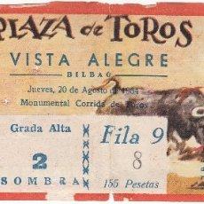 Tauromaquia: ENTRADA PLAZA DE TOROS VISTA ALEGRE. BILBAO. JUEVES, 20 AGOSTO 1964. Lote 167011232