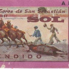 Tauromaquia: ENTRADA PLAZA DE TOROS SAN SEBASTIÁN. 15 AGOSTO 1957. Lote 167133312