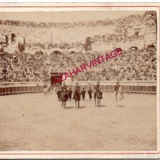 Tauromaquia: NIMES, 1894, CORRIDA DE TOROS, GUERRITA Y LITRI, 95X85MM. Lote 167288812