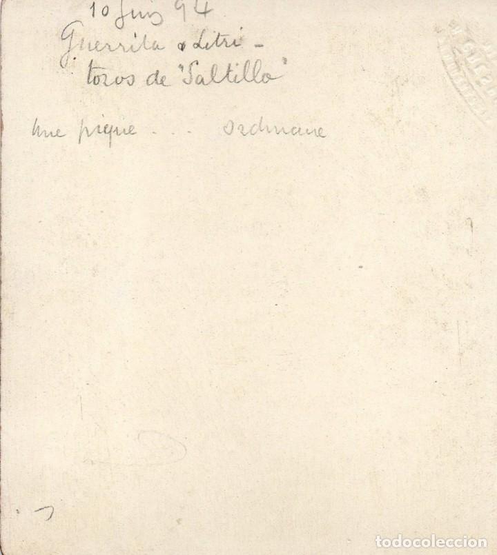 Tauromaquia: NIMES, 1894, CORRIDA DE TOROS, GUERRITA Y LITRI, 95X85MM - Foto 2 - 167289280