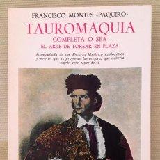 Tauromaquia: PAQUIRO - TAUROMAQUIA. Lote 167611220