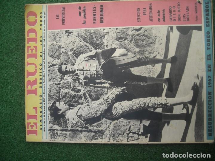 Tauromaquia: EL RUEDO SEMANARIO GRÁFICO DE LOS TOROS 73 EJEMPLARES AÑO 1962 1966 1967 1968 1970 1971 1972 1973 - Foto 9 - 167847784