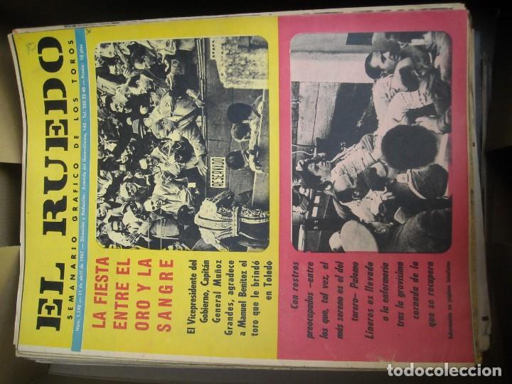Tauromaquia: EL RUEDO SEMANARIO GRÁFICO DE LOS TOROS 73 EJEMPLARES AÑO 1962 1966 1967 1968 1970 1971 1972 1973 - Foto 12 - 167847784