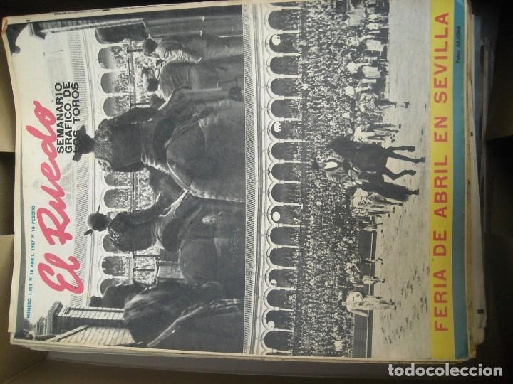 Tauromaquia: EL RUEDO SEMANARIO GRÁFICO DE LOS TOROS 73 EJEMPLARES AÑO 1962 1966 1967 1968 1970 1971 1972 1973 - Foto 14 - 167847784