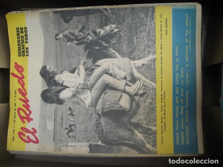 Tauromaquia: EL RUEDO SEMANARIO GRÁFICO DE LOS TOROS 73 EJEMPLARES AÑO 1962 1966 1967 1968 1970 1971 1972 1973 - Foto 18 - 167847784