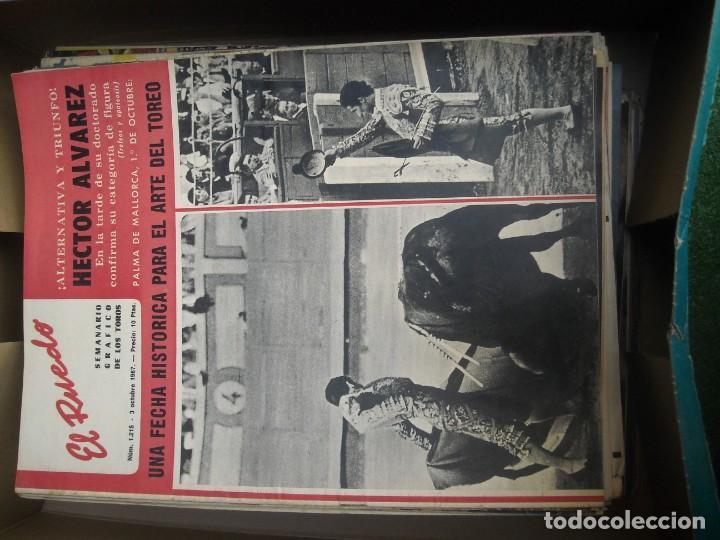 Tauromaquia: EL RUEDO SEMANARIO GRÁFICO DE LOS TOROS 73 EJEMPLARES AÑO 1962 1966 1967 1968 1970 1971 1972 1973 - Foto 26 - 167847784