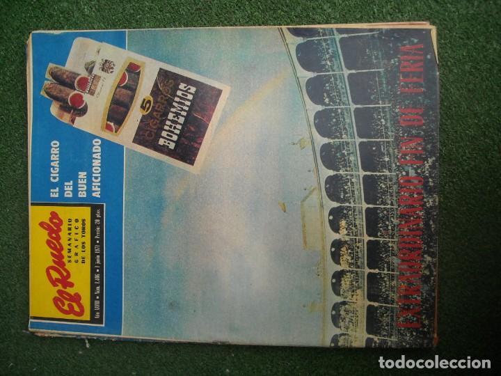 Tauromaquia: EL RUEDO SEMANARIO GRÁFICO DE LOS TOROS 73 EJEMPLARES AÑO 1962 1966 1967 1968 1970 1971 1972 1973 - Foto 47 - 167847784