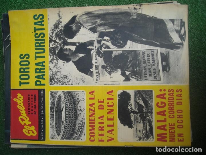 Tauromaquia: EL RUEDO SEMANARIO GRÁFICO DE LOS TOROS 73 EJEMPLARES AÑO 1962 1966 1967 1968 1970 1971 1972 1973 - Foto 57 - 167847784