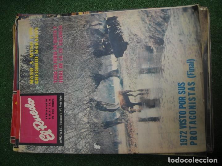 Tauromaquia: EL RUEDO SEMANARIO GRÁFICO DE LOS TOROS 73 EJEMPLARES AÑO 1962 1966 1967 1968 1970 1971 1972 1973 - Foto 104 - 167847784