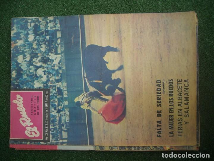 Tauromaquia: EL RUEDO SEMANARIO GRÁFICO DE LOS TOROS 73 EJEMPLARES AÑO 1962 1966 1967 1968 1970 1971 1972 1973 - Foto 131 - 167847784