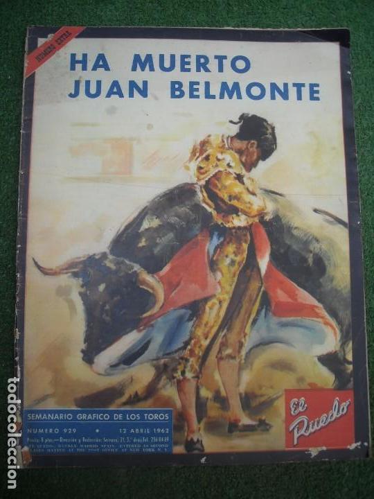 EL RUEDO SEMANARIO GRÁFICO DE LOS TOROS 73 EJEMPLARES AÑO 1962 1966 1967 1968 1970 1971 1972 1973 (Coleccionismo - Tauromaquia)
