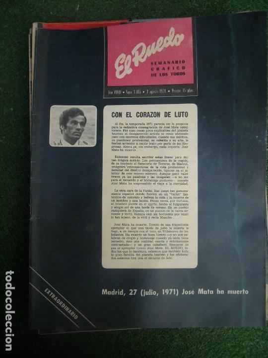 Tauromaquia: EL RUEDO SEMANARIO GRÁFICO DE LOS TOROS 73 EJEMPLARES AÑO 1962 1966 1967 1968 1970 1971 1972 1973 - Foto 59 - 167847784