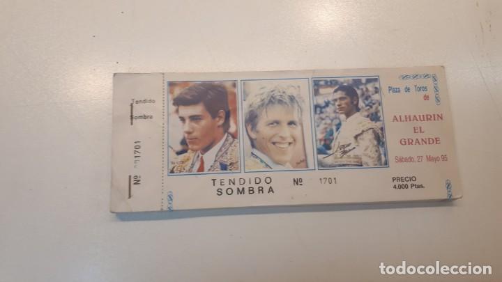 TALONARIO 100 ENTRADAS TOROS LITRI, CORDOBÉS Y PONCE 1995 (Coleccionismo - Tauromaquia)