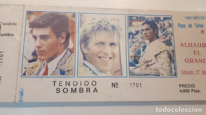 Tauromaquia: Talonario 100 entradas toros Litri, Cordobés y Ponce 1995 - Foto 4 - 168177244