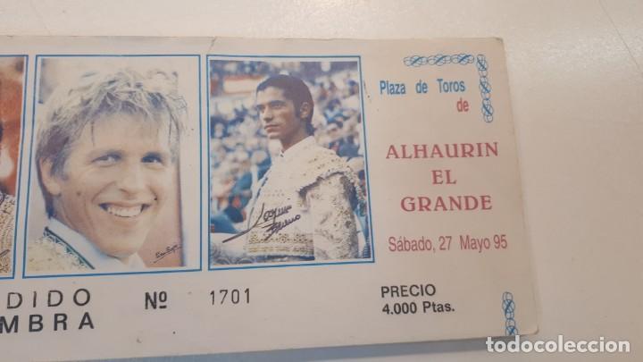 Tauromaquia: Talonario 100 entradas toros Litri, Cordobés y Ponce 1995 - Foto 5 - 168177244