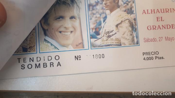 Tauromaquia: Talonario 100 entradas toros Litri, Cordobés y Ponce 1995 - Foto 8 - 168177244