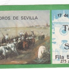 Tauromaquia: ENTRADA PLAZA DE TOROS DE SEVILLA. 17 JUNIO 1976. Lote 168684328
