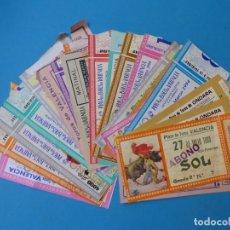 Tauromaquia: 27 ANTIGUAS ENTRADAS TOROS DE LOS AÑOS 1980-90, VER FOTOS ADICIONALES. Lote 168726328