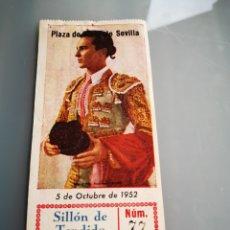 Tauromaquia: ENTRADA DE TOROS DE SEVILLA 1952. Lote 168747105