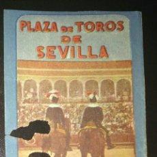 Tauromaquia: ENTRADA TOROS SEVILLA 1956 RAFAEL ORTEGA (RABO). Lote 169042258