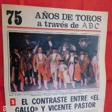 Tauromaquia: CUADERNO Nº.3, DE LA COLECCIÓN DEL ABC, 75 AÑOS DE TOROS. VARIOS TOREROS.. Lote 169329436